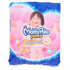 Детские подгузники-трусики для девочек XL MamyPoko Pants 12 шт