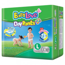 Детские подгузники-трусики для малышей весом 9-14 кг Baby Love DayPants 14 шт