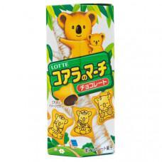 Тайское печенье Lotte Koalas с шоколадной или сливочной начинкой