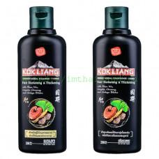 Безсульфатный кондиционер для темных волос Kokliang (уменьшает выпадение волос) 200 мл