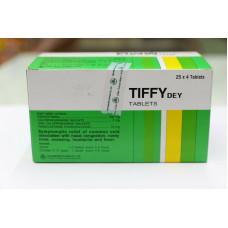 Тайские таблетки Tiffy dey от простуды 100 штук