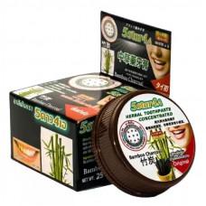 Круглая тайская зубная паста с бамбуковым углем 5 Star cosmetics Co 25 гр