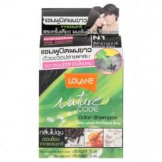 Тайский оттеночный шампунь для волос Lolane Натуральный черный цвет