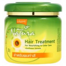 Тайская маска для волос Защита Цвета Hair Treatment  Lolane Natura Sunflower 250 гр
