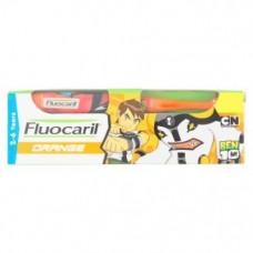 Детская зубная паста апельсиновая Fluocaril Orange 65 гр для 2-6 лет