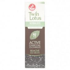 Черная зубная паста с активным углем Twin Lotus (Твин Лотус) 150 гр
