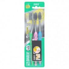 Набор зубных щеток Darlie Charcoal 3 шт