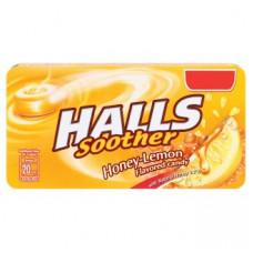 Леденцы от кашля с медом и лимоном Halls Soother Honey-Lemon 22 гр