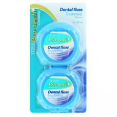 Зубная нить Мятная Свежесть Tesco Pro-tech Complete 2 шт по 50 м
