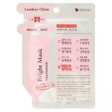 Тканевая маска для лица отбеливающая Leaders Clinic 1 шт