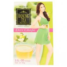 Тайский зеленый чай Ranong Tea Derr Chape с яблоком 20 пак