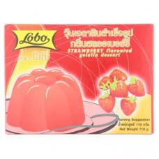 Желе из клубники Lobo Strawberry Flavoured Gelatin Dessert 110 гр