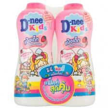 Детская присыпка Клубника и Йогурт D-nee Kids Strawberry Yogurt Candy Scent Baby Powder 450 гр x 2 шт