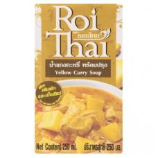 Желтый Карри готовый тайский суп Roi Thai Yellow Curry Soup 250 мл