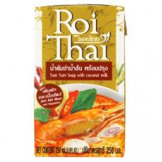 Тайский суп Том Ям готовая основа на кокосовом молоке Roi Thai Tom Yum Soup with Coconut Milk 250 мл