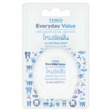 Зубная нить мятная Tesco Everyday Value 50 м