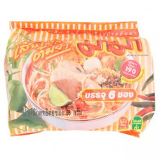 Суп-лапша со вкусом Том Ям с креветками в брикете Mama 6 шт по 55 гр
