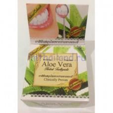 Тайская круглая зубная паста с Алоэ 30 гр