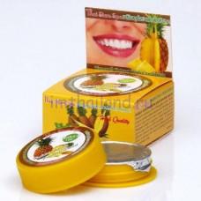 Тайская круглая зубная паста с Ананасом 25 гр