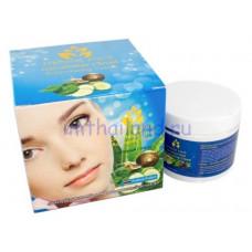 Омолаживающий крем для лица со слизью улитки и огурцом Natural Herb 100 мл