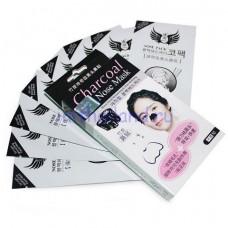 Угольная маска-пленка на нос против черных точек 10 штук